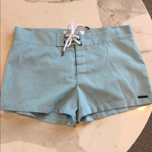 Designer aqua swim trunks